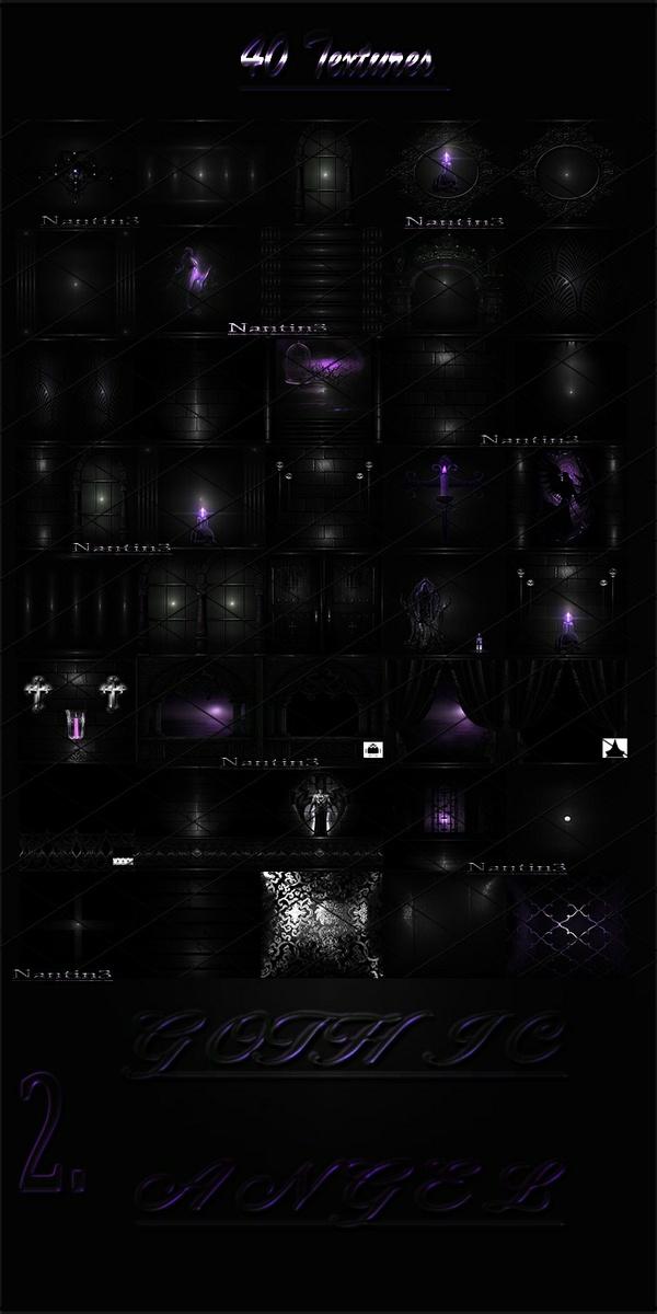 GOTHIC ANGEL 2 FILES 40Textures 256x256jpg.