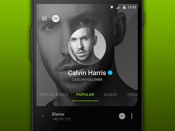Spotify in Material Design