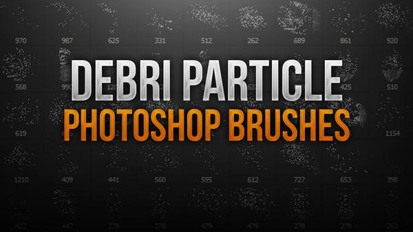 Debri Particle Photoshop Brush Pack