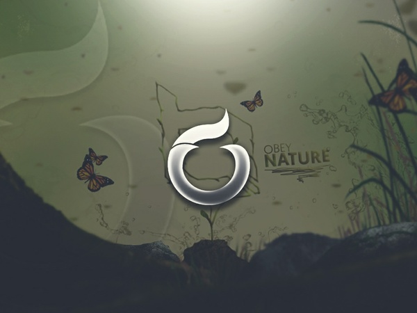 """""""Sprout"""" Obey Nature Header PSD"""