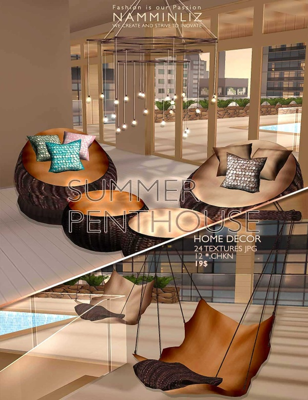 Summer Penthouse Home decor 24 Textures JPG & 12 *. CHKN ^  -  ^