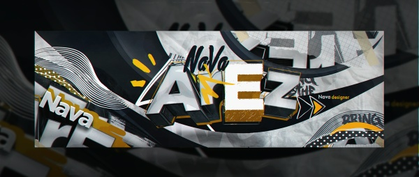 Header for @LetteringArez | Template (PSD)
