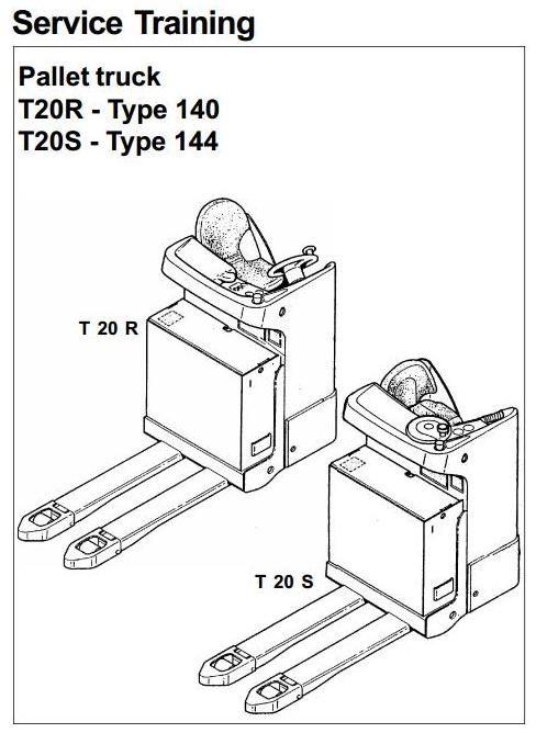 Linde Pallet Truck T20R Type 140, T20S Type 144 Service Training (Workshop) Manual