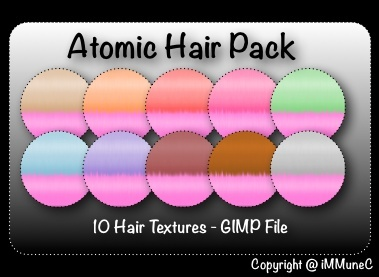 10 Atomic Hair Textures With Resell Rights