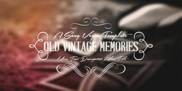 Old Vintage Memories - Sony Vegas Pro Template