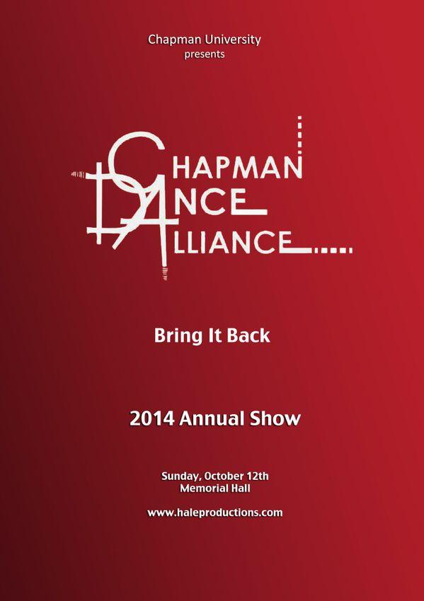 Chapman Dance Alliance 2014 - 10 Bring It Back