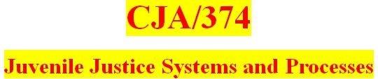 CJA 374 Week 1 Juvenile Crime Statistics