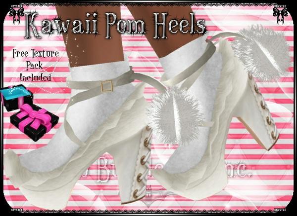 💎Kawaii Pom Heels
