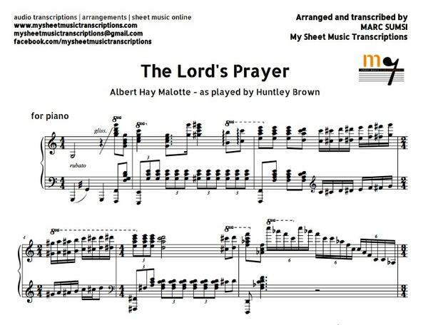 The Lord's Prayer (A.H. Malotte) Sheet music (.pdf)