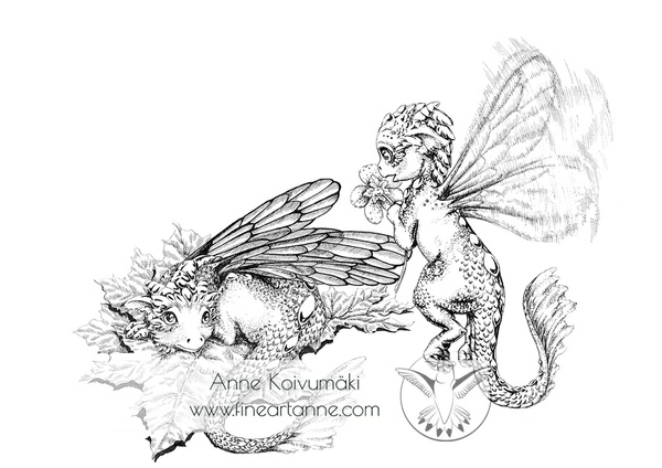 Two fairy dragons