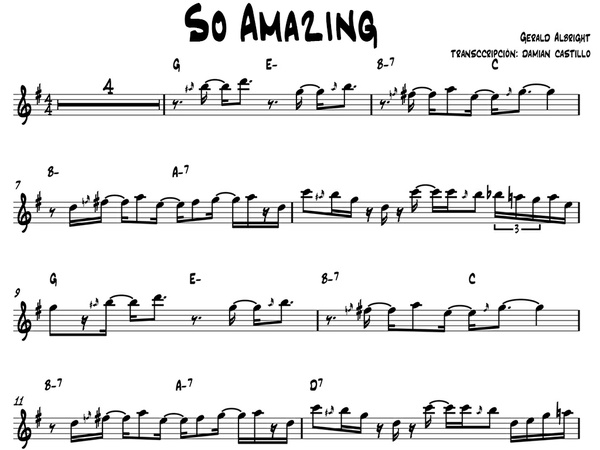 """Gerald Albright - """"So Amazing"""" - Sax alto."""