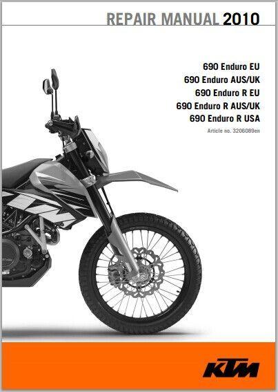 2010 KTM 690 Enduro, 690 Enduro R  Workshop Service Repair Manual Download