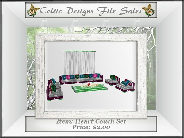 CD Heart Couch Set
