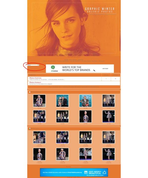 Thème coppermine Orange Emma Watson (personnalisable)