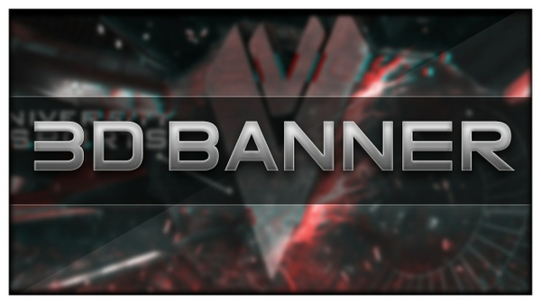 3D BANNER for YouTube