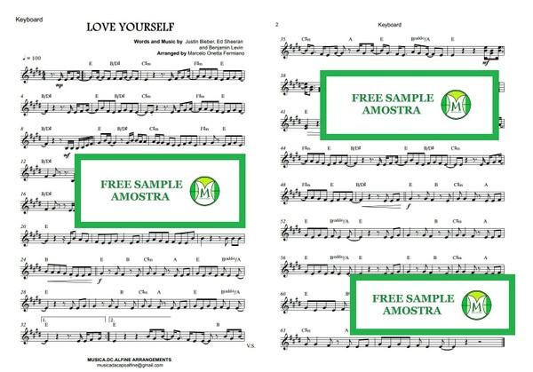 Love Yourself - Justin Bieber - Keyboard - Sheet Music
