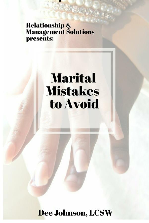 Marital Mistakes to Avoid