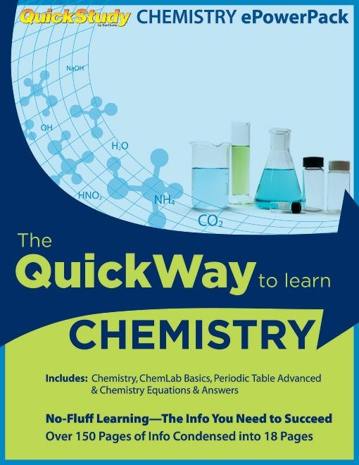 Chemistry Study Review PowerPack - 4 Study Guide Bundle