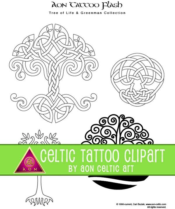 43 Celtic Tattoo Designs - Tree of Life, Greenman, Pagan and Spirals