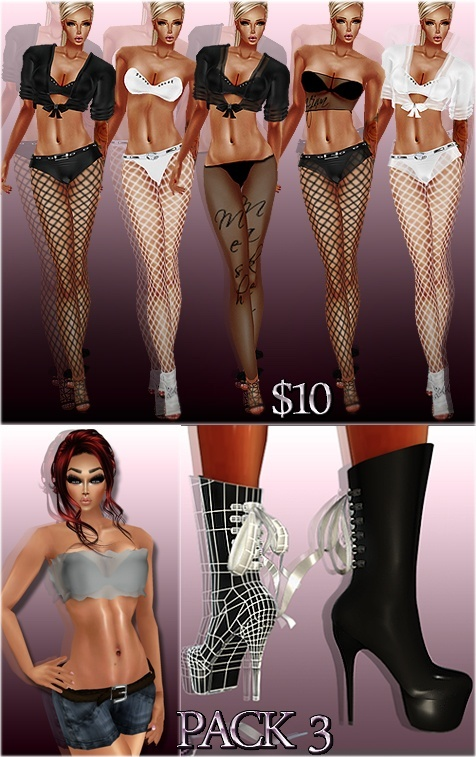 PACK 3 Full Packages IMVU MESHES & TEXTURES