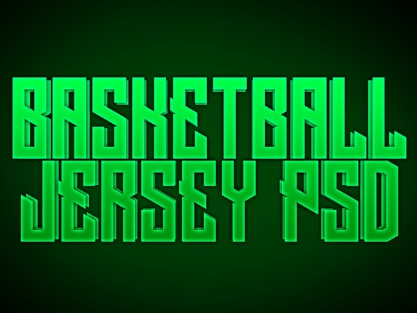 Basketball Jersey PSD