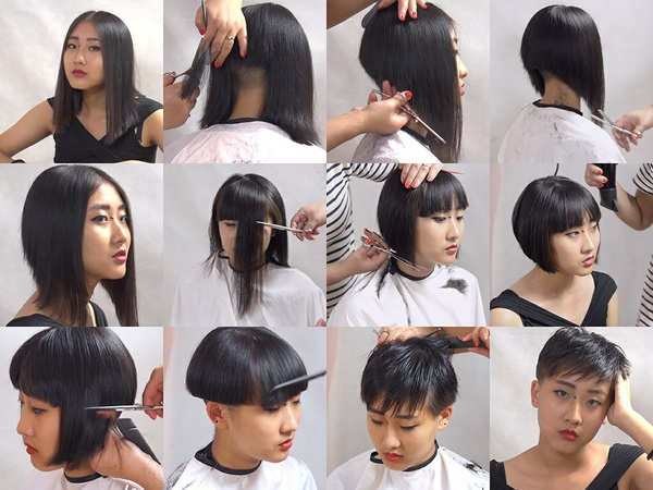 Miss Jing Long to Pixie Haircut in Stages Part 2