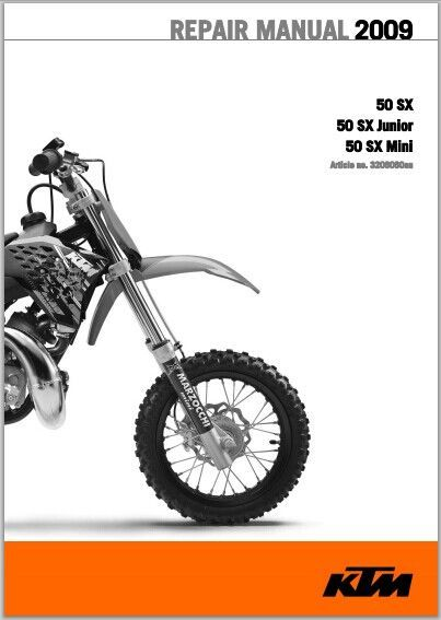 2009 KTM 50 SX, 50 SX Junior, 50 SX Mini Workshop Service Repair Manual pdf Download