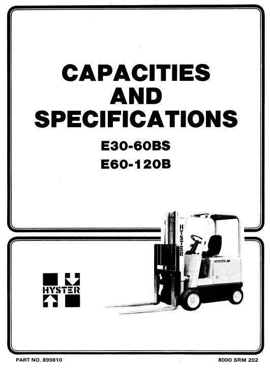 Hyster Electric Forklift Truck Type B108: E30B, E40B, E50B, E60BS Workshop Manual