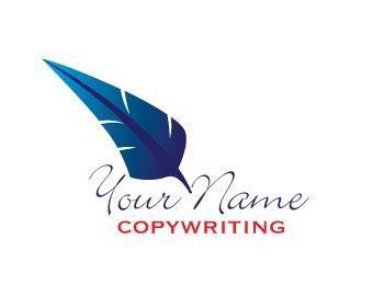 Feather copy writer logo
