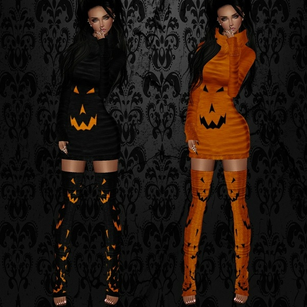 Sweet Halloween Dress Set - W/Resell Rights