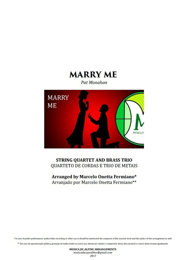 Marry Me | Train | String Quartet and Brass Trio | Score and Parts Download