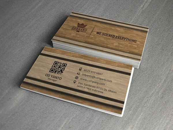 Business Card Wood Style Vol#06