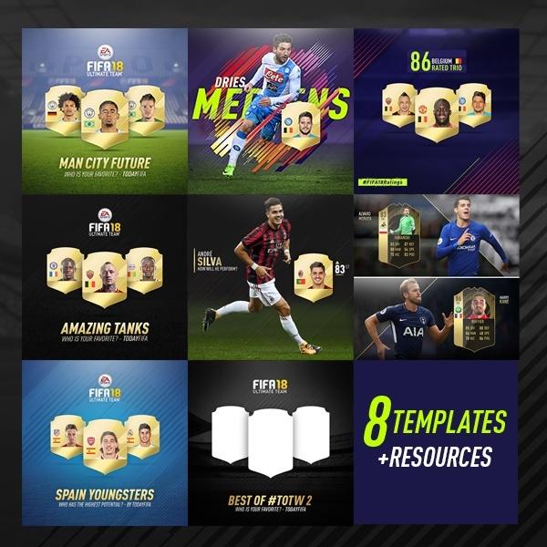 8x templates .PSD  - FIFA 18
