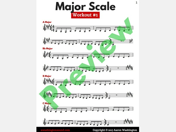 Major Scale Workout #1