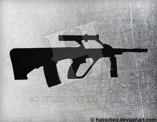Steyr AUG A1 - printable, vector, svg, art