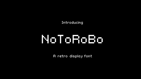 NoToRoBo - Retro font FREE