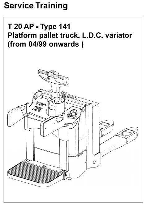 Linde Pallet Truck Type 141: T20AP Service Training (Workshop) Manua