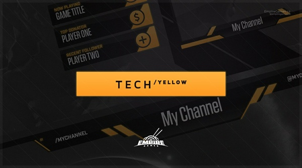 Stream Overlay | Tech Yellow - No Photoshop!