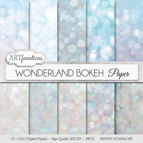 WONDERLAND BOKEH - DIGITAL PAPER
