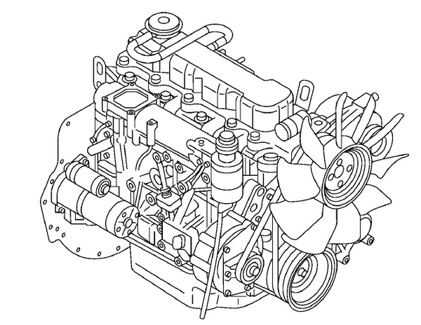 Nissan Forklift K15, K21, K25 ENGINE Service Repair Manual Download