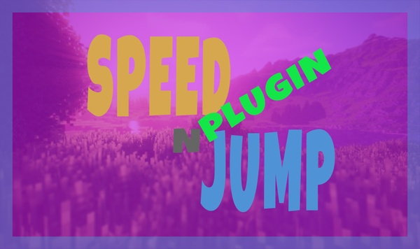 Speed and Jump Command - PHP Plugin