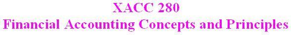 XACC 280 Week 9 Final Project - Financial Analysis