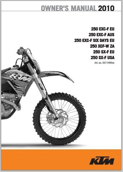 KTM 250 EXC-F  Owner Manual 2010  pdf Download