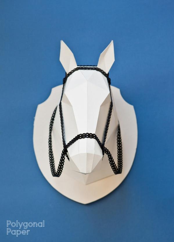 La plantilla 2d de  la cabeza de caballo