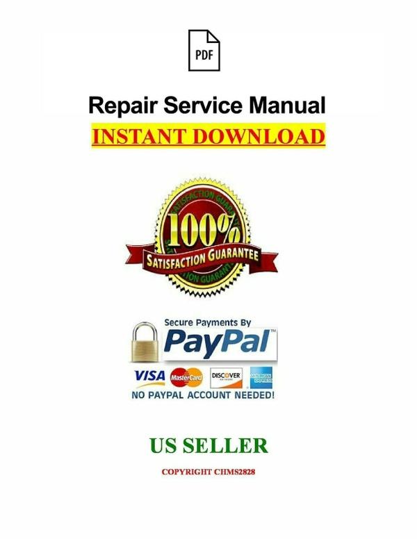JCB 3CX 4CX Backhoe Loader Service Repair Workshop Manual  PDF