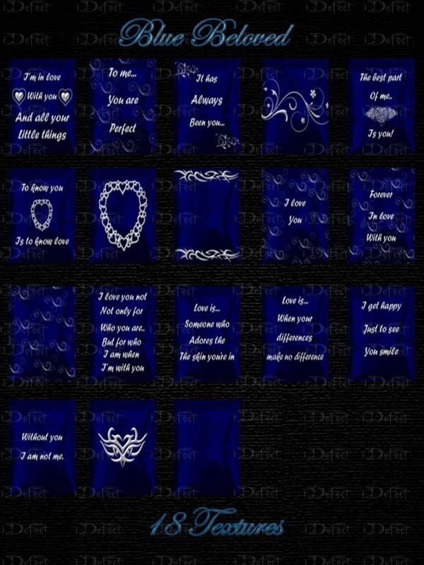 Blue Beloved Pillows