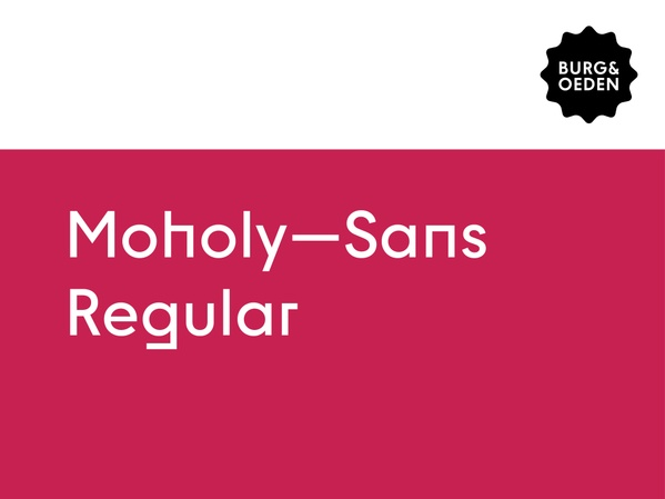 Moholy Sans Typeface / Regular