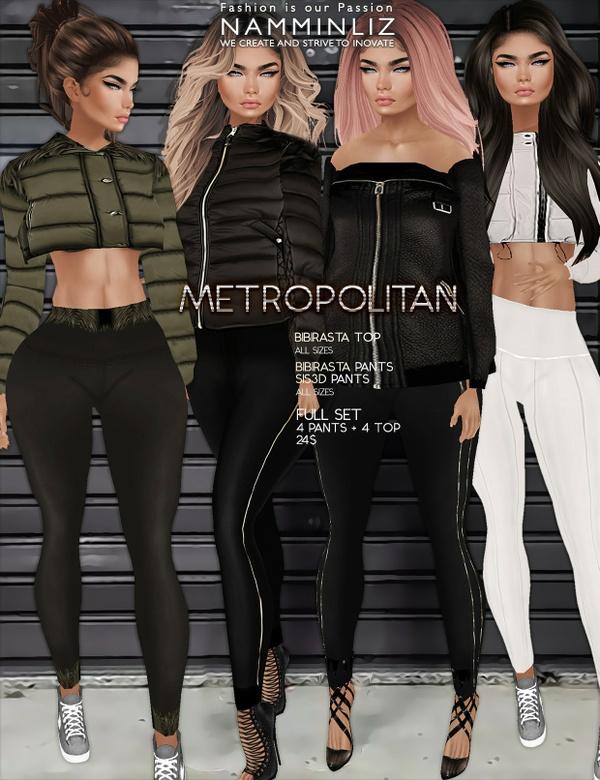 Metropolitan Full SET imvu textures bibirasta Top & Pants Sis3d