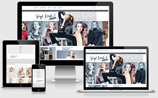 Gigi Hadid WordPress Theme