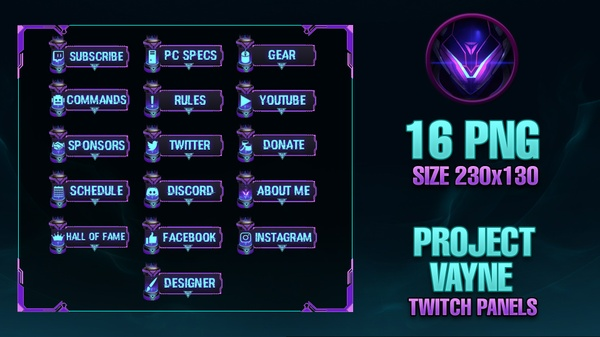 PROJECT Vayne - Twitch Panels